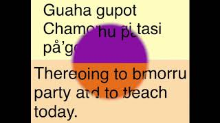 Lets learn the Chamorro language of Guam Part 3 from Chamorro Belly Good Food