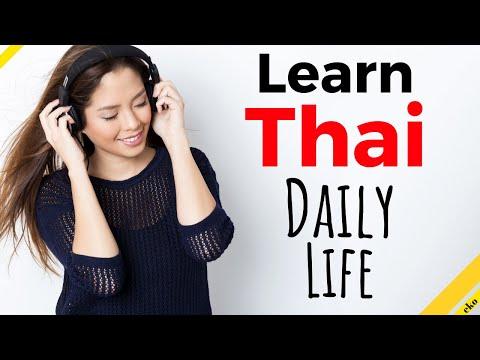 Learn Thai While You Sleep 😴 Daily Life In Thai 💤 Thai Conversation (8 Hours)