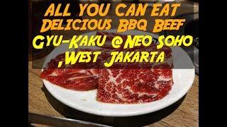 SATISFYING BBQ BEEF BUFFET at GYU-KAKU JAPANESE BBQ @NEO SOHO, West Jakarta #jakarta