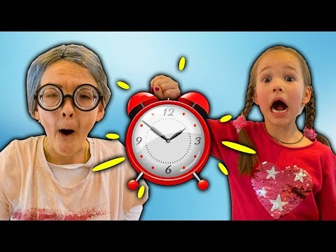 Amelia and Avelina have a time rewind adventure with a magic clock