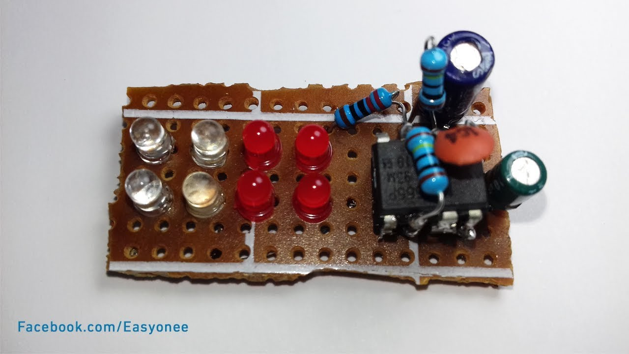 How To Make Led Police Lights Using 555 Timer Ic Very Easy At Home Ne Circuits Pdf Http Www