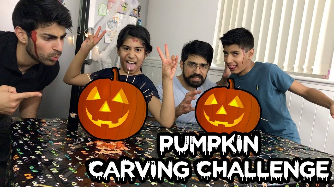 Pumpkin Carving Challenge Ft My Niece Nephew And Brother