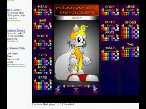 sonic character design sonic shadow tails and knuckles spelled