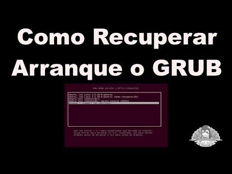 Recuperar el arranque o Grub de Ubuntu, Linux Mint, Debian y derivados.