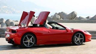 Ferrari 458 Spider. Прокат автомобилей в Италии - Primerent(За рулем уникальной Ferrari 458 Spider можно не только открыть крышу и мчаться навстречу ветрам Италии, но и почувст..., 2015-04-26T15:44:48.000Z)
