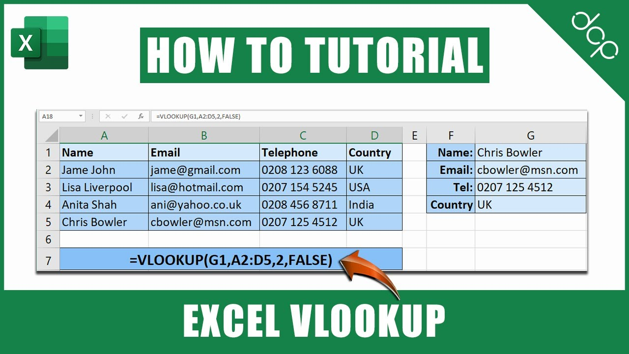 How to use VLOOKUP function in Excel | Excel 2021 Tutorial
