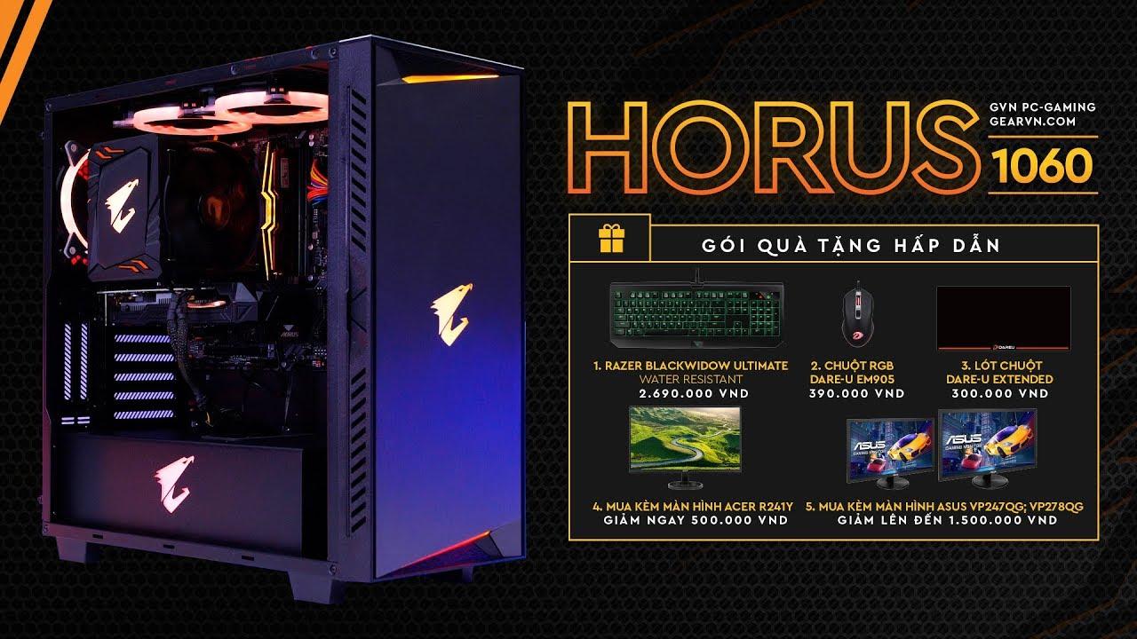 PC chiến game cực mạnh và đẹp dành cho fan Gigabyte Aorus | GVN Horus 1060