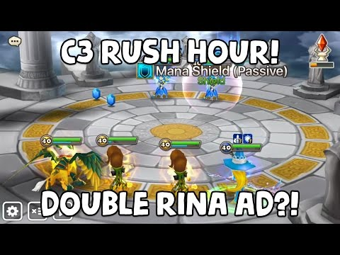 Summoners War  C3 Double Lushen Arena Rush Hour Commentary G1 is within reach boys!