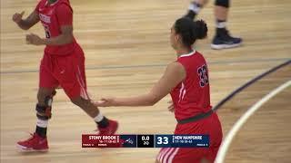 UNH Women's Basketball vs Stony Brook Highlights 2/17/18