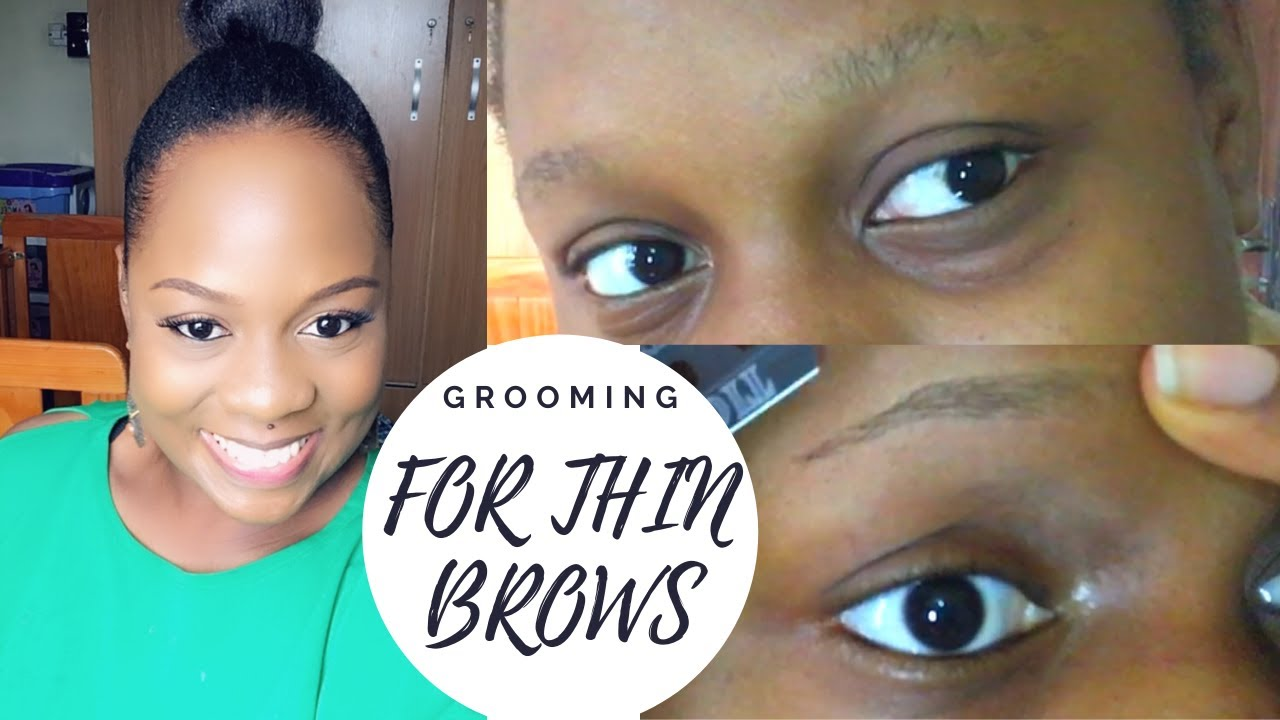 EYEBROW GROOMING 101   FOR THIN BROWS   BEGINNER FRIENDLY ...