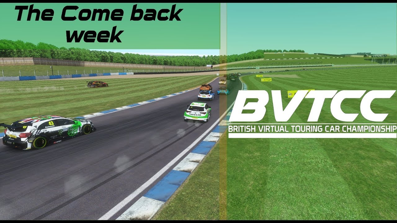 Rfactor 2 - British Virtual Touring Car Championship - Donnington- Round 2,  Race 1