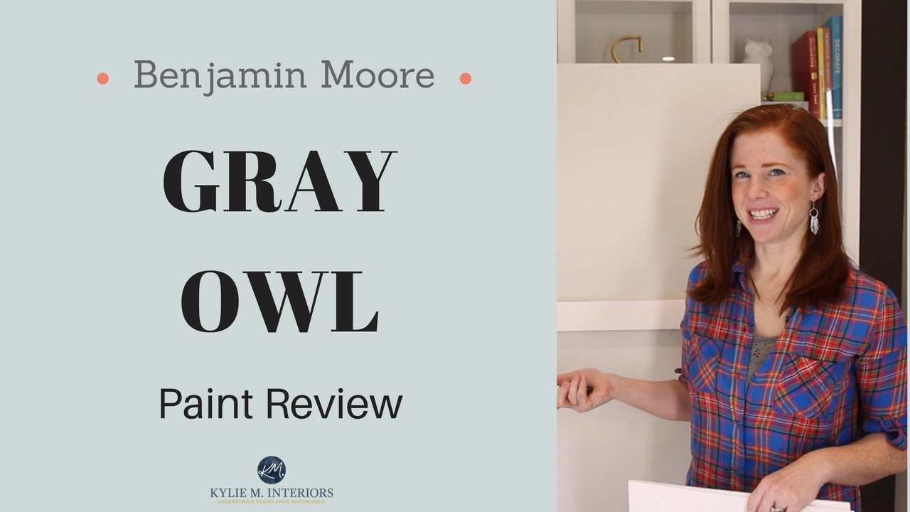 Colour Review Benjamin Moore Gray Owl Kylie M Interiors