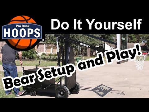 Pro Dunk Bear Portable Hoop Setup And Play