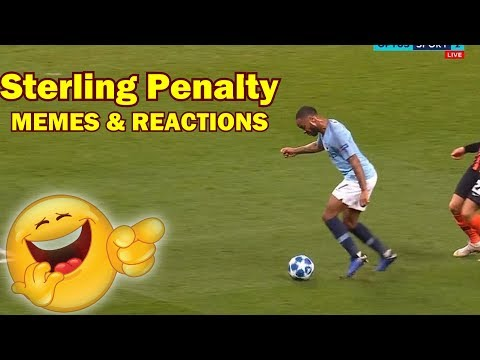 Sterling PENALTY MEMES AND INTERNET REACTIONS Man City