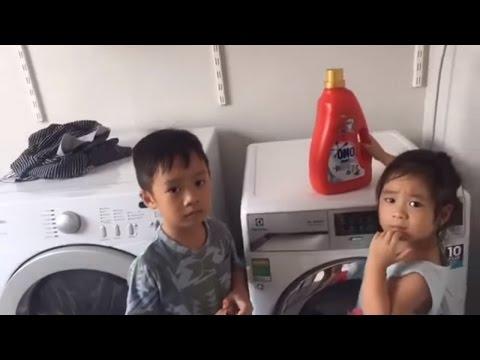 Lý Hải Minh Hà | Cherry Rio Phụ Mẹ Giặt Đồ