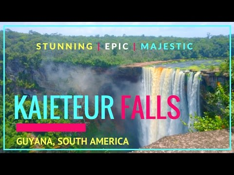 """My Trip to KAIETEUR FALLS  in """"The Land Of Many Waters"""" GUYANA, South-America 2017"""