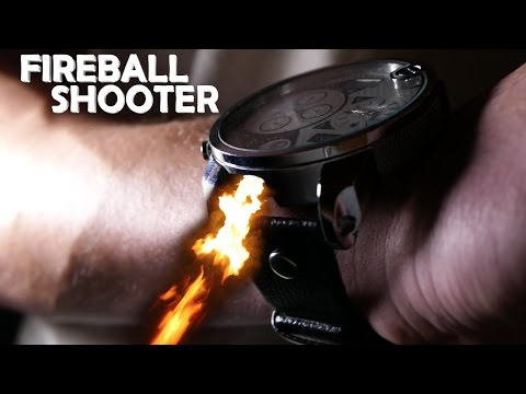 DIY Wrist Watch FIREBALL Shooter! - Control Fire With Your Hand!!! (Amazing Magic Spy Device)