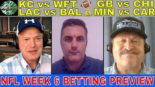 NFL Week 6 Picks and Predictions | Chiefs vs WFT | Vikings vs Panthers | Packers vs Bears Free Plays