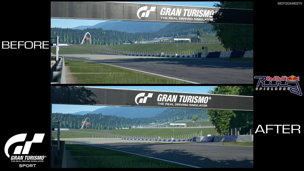Gran Turismo Sport - Before and After Patch 1.38 - Red Bull Ring Updated Times of Day