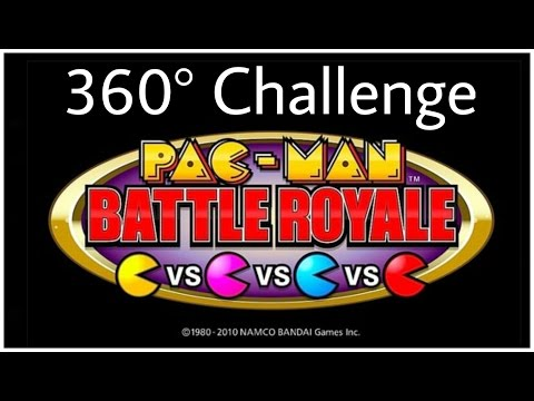 Pac-Man in 360° VR Game Arcade Challenge Battle Royale competition