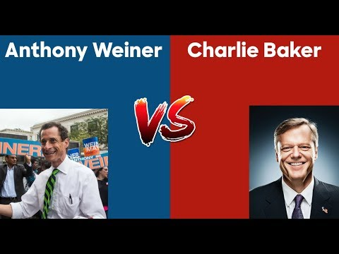 How would Charlie Baker do vs Anthony Weiner in a general election?