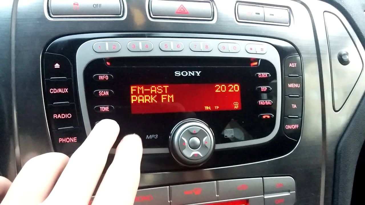 Ford Mondeo Mk4 Radio Sony Telefon Youtube
