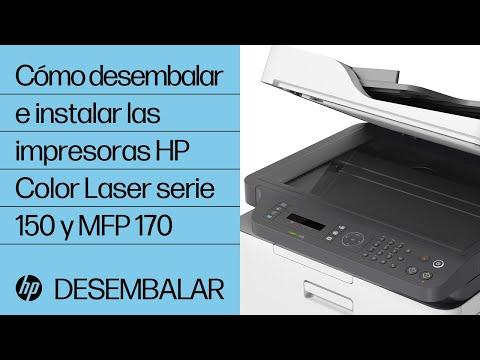 Cómo desembalar e instalar las impresoras HP Color Laser serie 150 y MFP 170 | HP Laser | HP