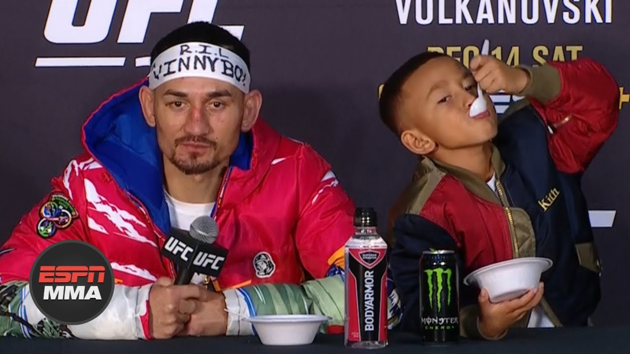 Max Holloway Mini Blessed Have A Snack While Talking Fights Ufc 245 Press Conference Espn Mma Youtube