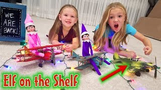 Elf on the Shelf! Airplane Arrival for 2018 With Empty Plane! Day 1