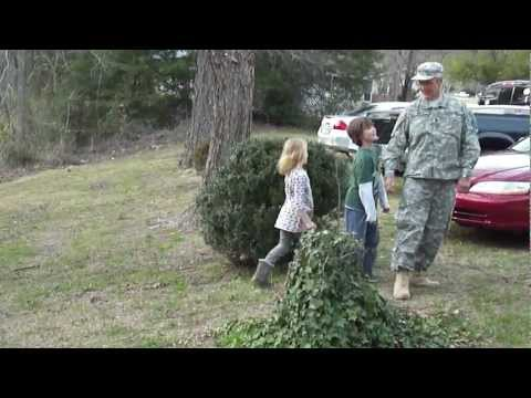 "Army cadence ""Here we go again"" with kids and Dad"