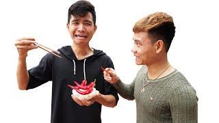 PHD | Thử Thách Nhịn Cười Và Hình Phạt Ăn Cơm Với Ớt