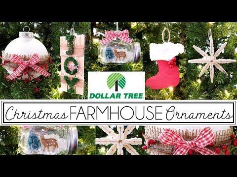 Dollar Tree Christmas 2019 | Farmhouse Christmas Ornaments | Collab Latina Next Door