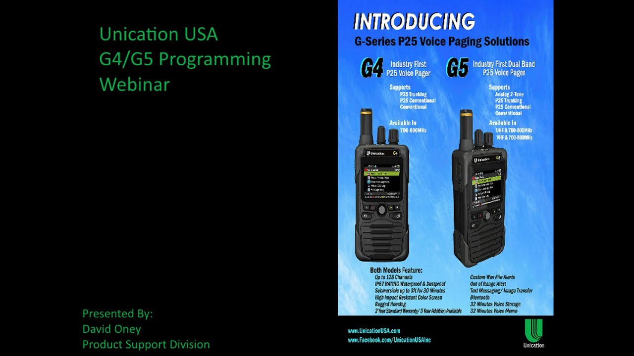 Unication G4/G5 Programming Overview