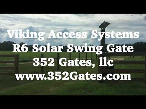 Solar Swing Gate Opener Viking R-6S - 352 Gates, llc
