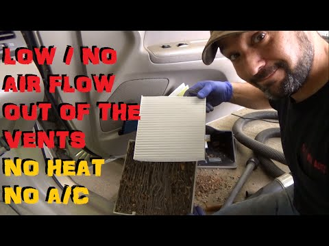 Low Air Flow Out The Vents - No Heat