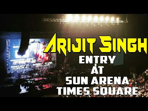 ARIJIT SINGH LIVE entry at sun arena at times squares South Africa 2018