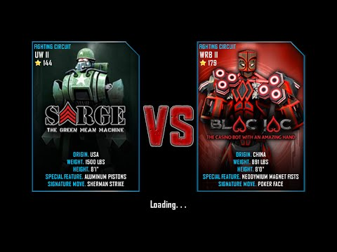 Real Steel WRB Free Sparring | Sarge VS BlackJac | NEW ROBOT