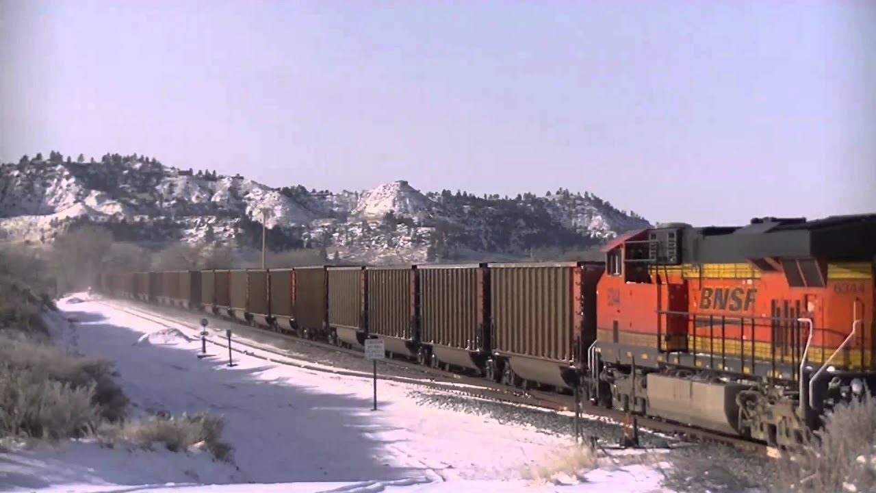 Winter In Eastern Montana Part 1 Bnsf Sd70ace S Boeing