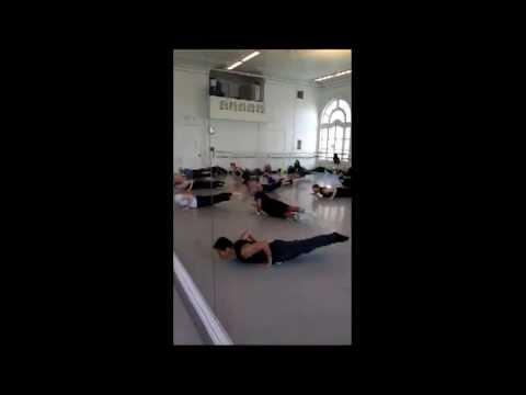 Coccyx balance & floor work  Horton Technique Class (Dance Class Choreography)