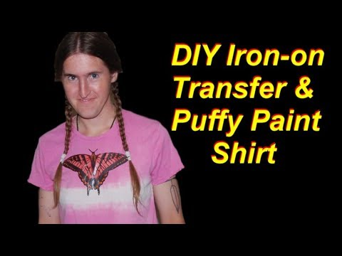 How To Embellish A Shirt With Iron On Transfers And Puffy Paint