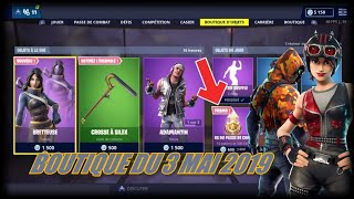 FORTNITE: May 3 shop, NEW SKIN BRETTEUSE, NEW PIOCHE CROSSE A SILEX, item shop