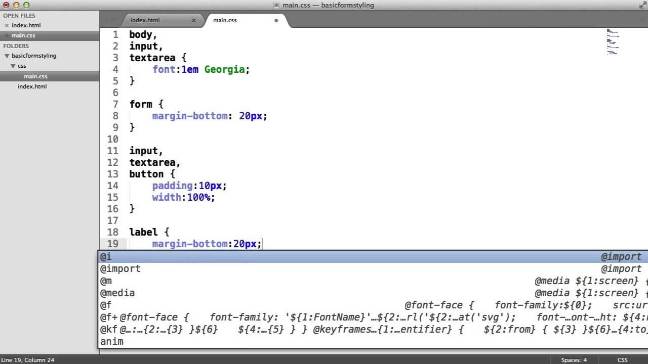 CSS: Basic Form Styling - YouTube
