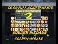 CSGO Map Achievements 2 Global Expertise Medal 2 #  Golden Medal 2