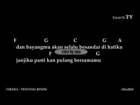 Virzha Tentang Rindu Chord Dan Lirik Youtube