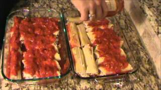 Cheese And Sausage Manicotti