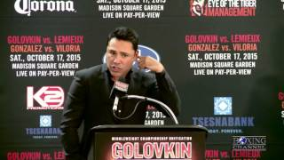 De La Hoya on Luis Ortiz