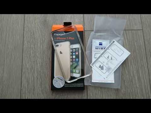iPhone 7 Plus Case, Spigen® [Neo Hybrid Crystal] PREMIUM BUMPER [Champagne Gold] Clear Case