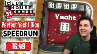 Perfect Yacht Dice Score Speedrun in 16:49 (325 Points)