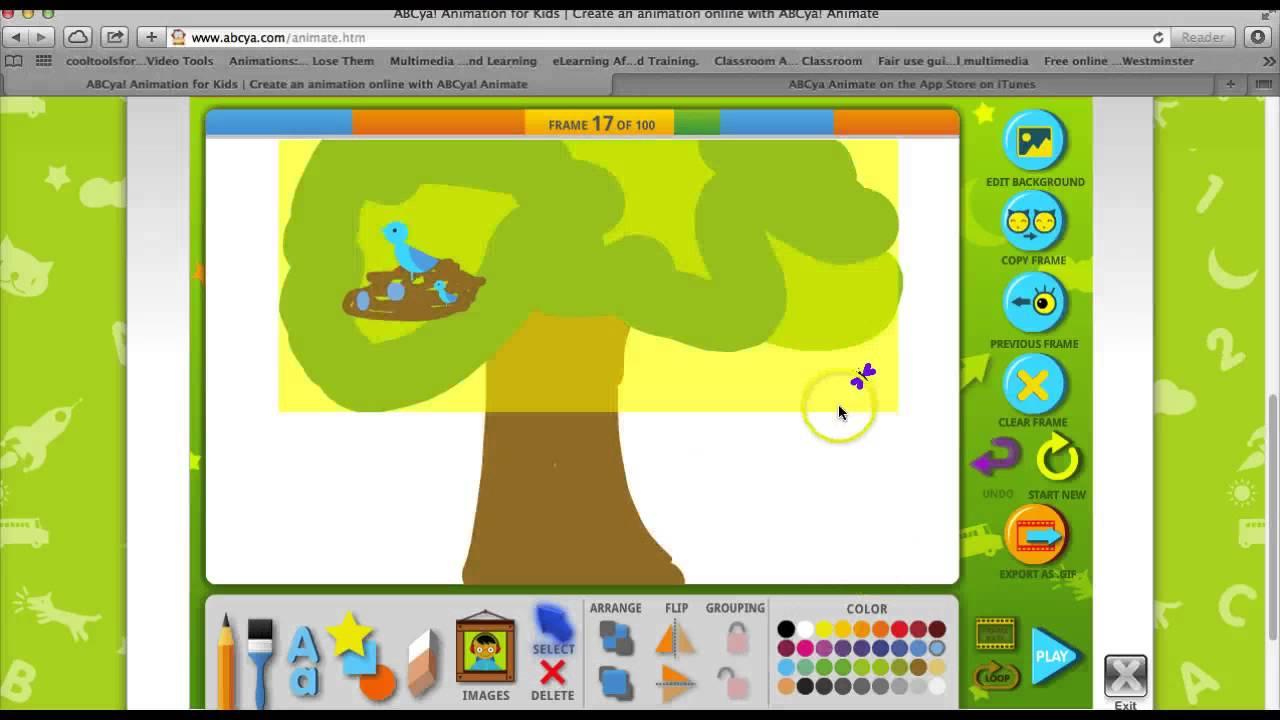 Animation on abcya – mr. A's technology page.