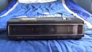 Vintage 1968 Sony Tfm-c660w Am/fm Digital Clock Radio